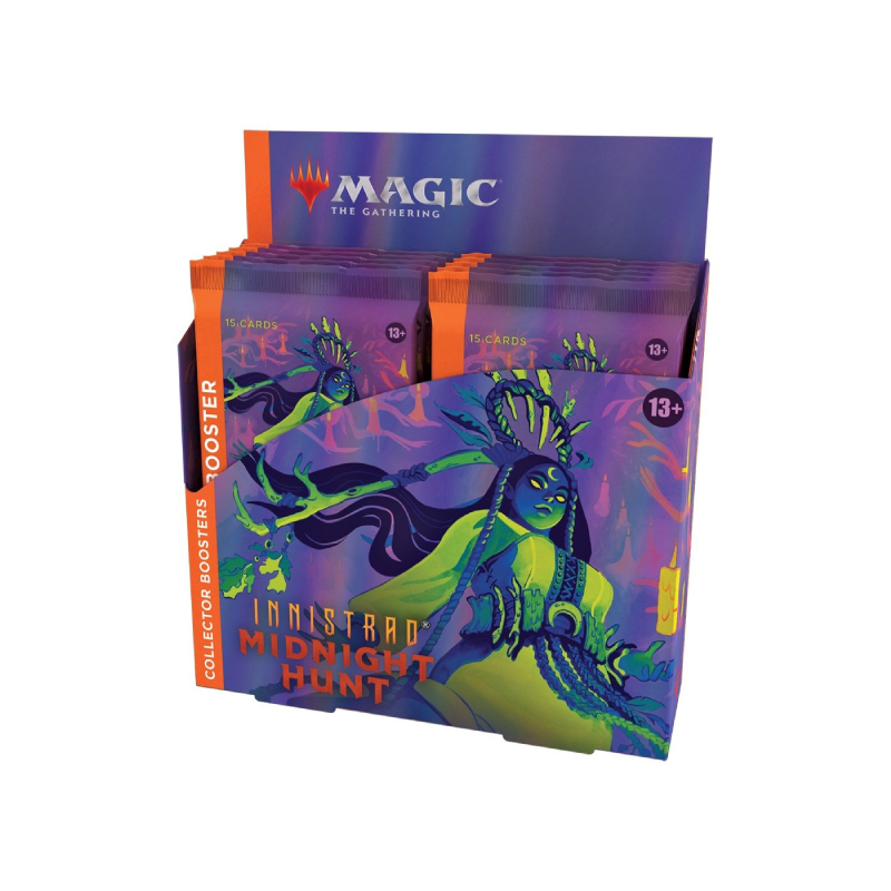 การ์ดเกม Magic The Gathering Innistrad: Midnight Hunt (MID) Collector Booster Display (Box of 12)