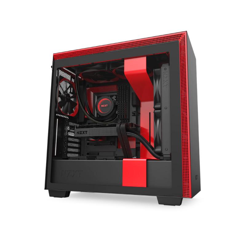 เคส NZXT H710 BLACK/RED Computer Case
