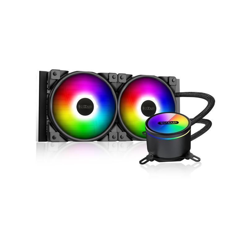 ชุดน้ำ PC Cooler GI-CX240 ARGB CPU AIO Liquid Cooler