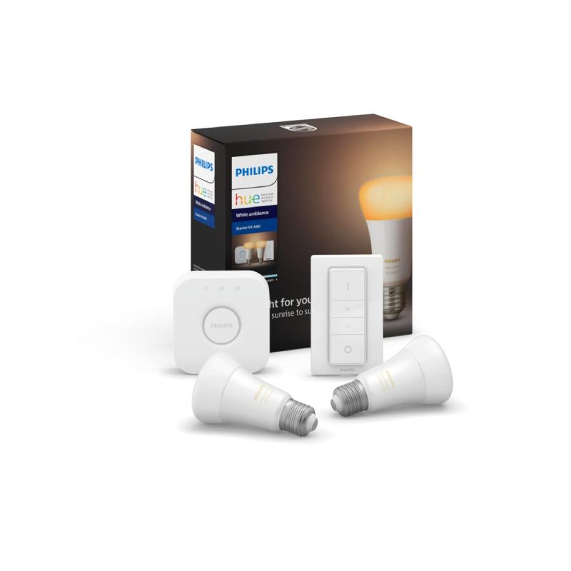 ชุดหลอดไฟอัจฉริยะ Philips Hue White Ambiance 8.5W A60 E27 SET ID/TH