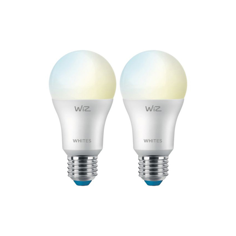 ชุดหลอดไฟอัจฉริยะ Philips Wiz Wi-Fi TW 9W A60 2PK + Remote 6/2CT