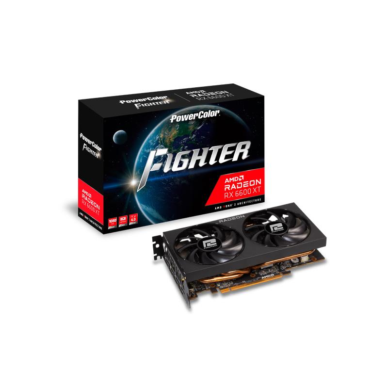 การ์ดจอ Power Color Fighter AMD Radeon RX 6600 XT 8GB GDDR6 VGA