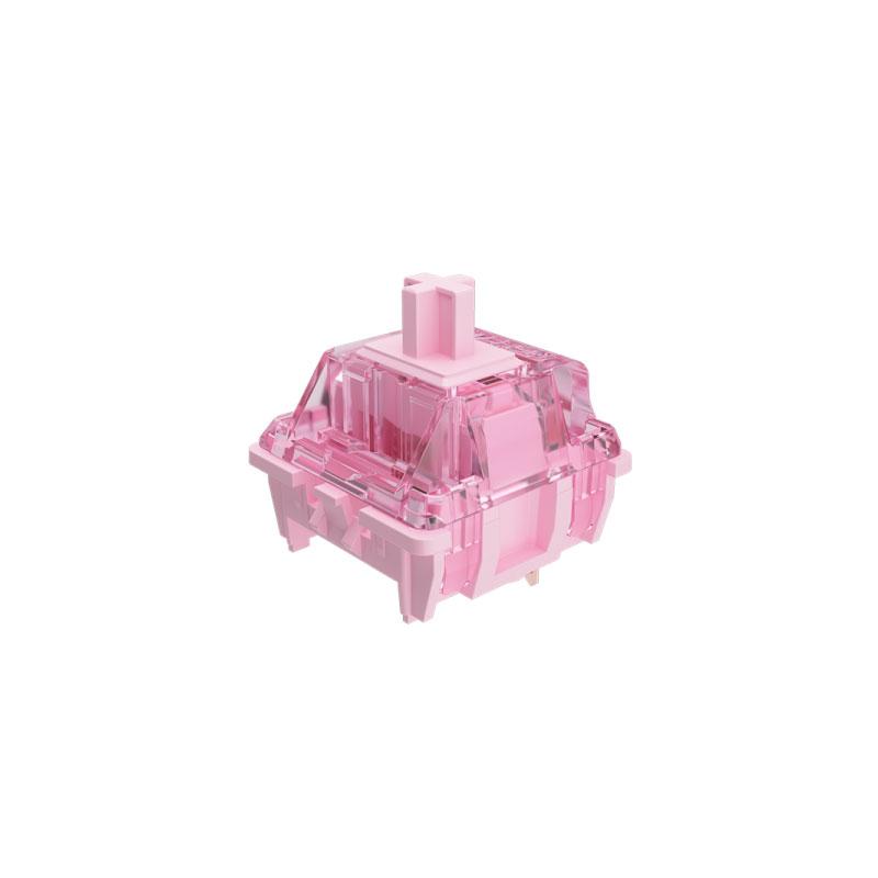 ชุดสวิตช์ AKKO x GATERON Pink 3 Pin Switch Set [Linear] (45 Pieces)