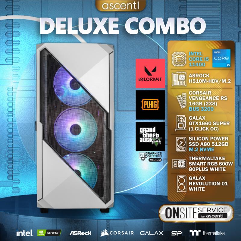 คอมเล่นเกม Ascenti DELUXE COMBO Intel Core i5-11400 GTX1660 SUPER 1 CLICK OC RAM 16GB Computer by Ascenti
