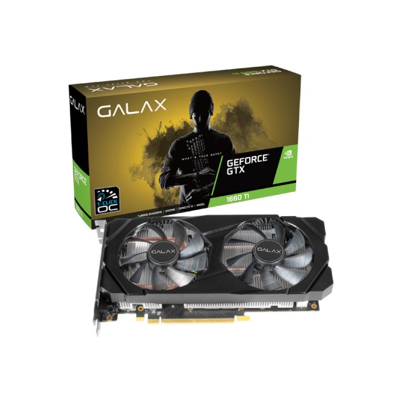 การ์ดจอ Galax Geforce GTX 1660 Ti 1 Click OC 6GB GDDR6 192 Bit VGA