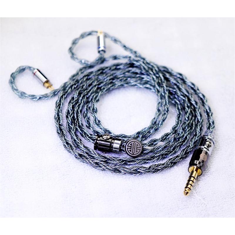 สายอัพเกรดหูฟัง Hakugei Alfheim 6N OCC Black Litz + 7N OCC Silver Litz Headphone Cable