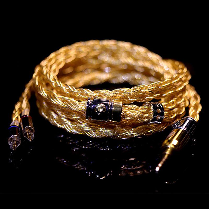 สายอัพเกรดหูฟัง Hakugei Athena ถักผสม ทอง เงินและทองแดง Headphone Cable