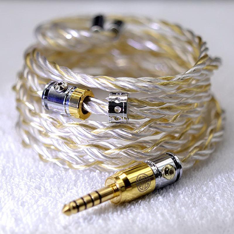 สายอัพเกรดหูฟัง Hakugei Heimdallr 6N Silver ชุบทอง + 6N Silver Litz Headphone Cable