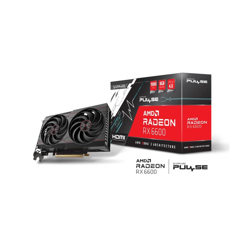 การ์ดจอ Sapphire Pulse AMD Radeon RX 6600 Gaming 8GB GDDR6 VGA