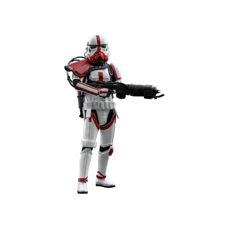 ฟิกเกอร์ Hot Toys Incinerator Stormtrooper: The Mandalorian 1/6 Scale Figure