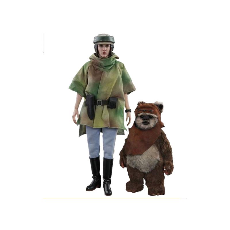 ฟิกเกอร์ Hot Toys Princess Leia and Wicket: Star Wars EP6 Return of the Jedi 1/6 Scale Figure