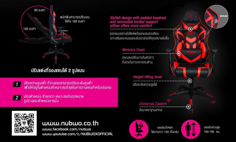 เก้าอี้เล่นเกม Nubwo NBCH-X105 ราคา