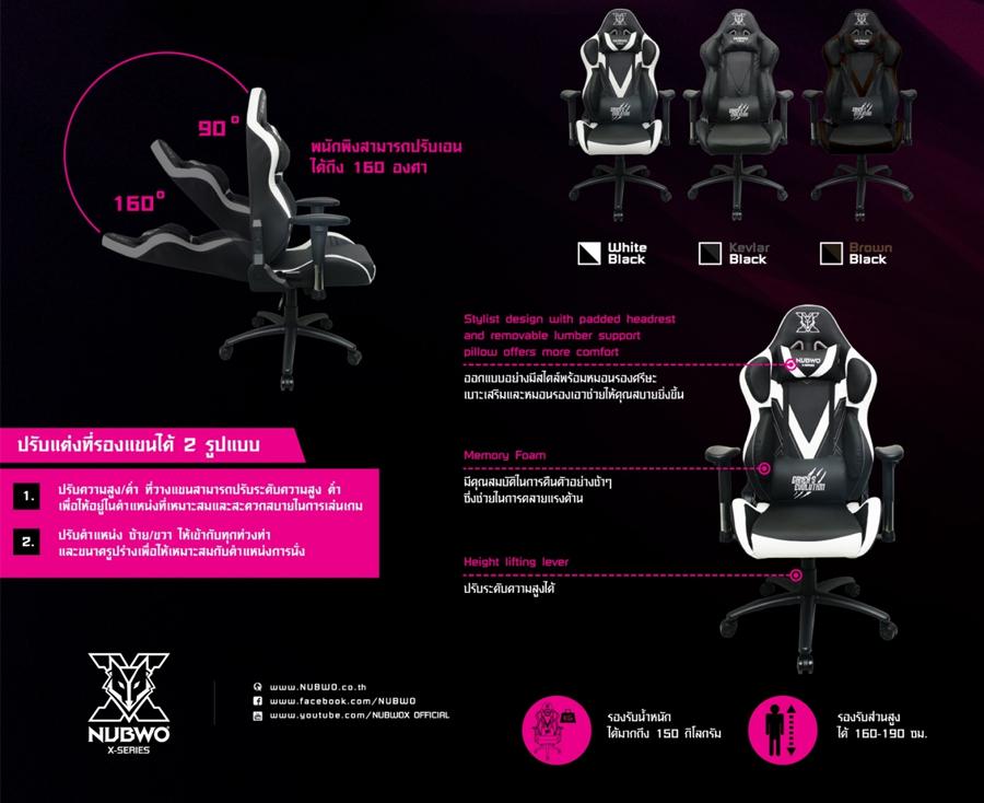 เก้าอี้เล่นเกม Nubwo NBCH-X109 ราคา