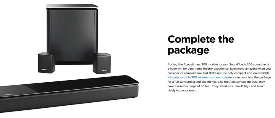 ลำโพง Bose Acoustimass 300 Wireless Bass Module (Optional Add-On) ราคา