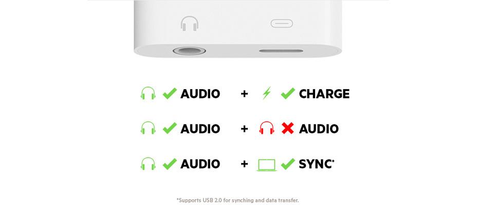 สาย Belkin Audio 3.5mm + Charge Belkin Rockstar สายแปลง