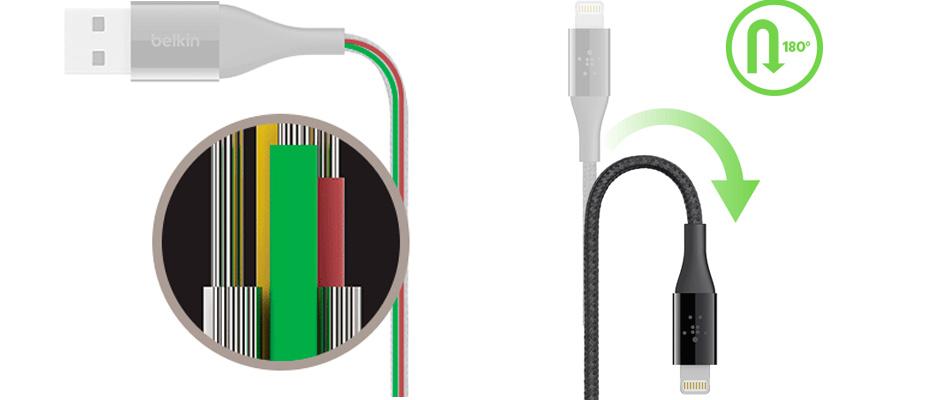 Lightning to USB Aluminum Belkin รีวิว