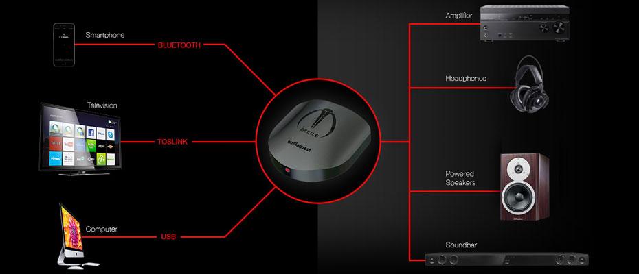 Audioquest Beetle Dac-Amp ตัวรับสัญญาณ