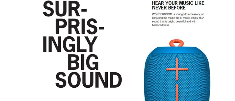 ลำโพงไร้สาย Ultimate Ears Wonder Boom Speaker ราคา