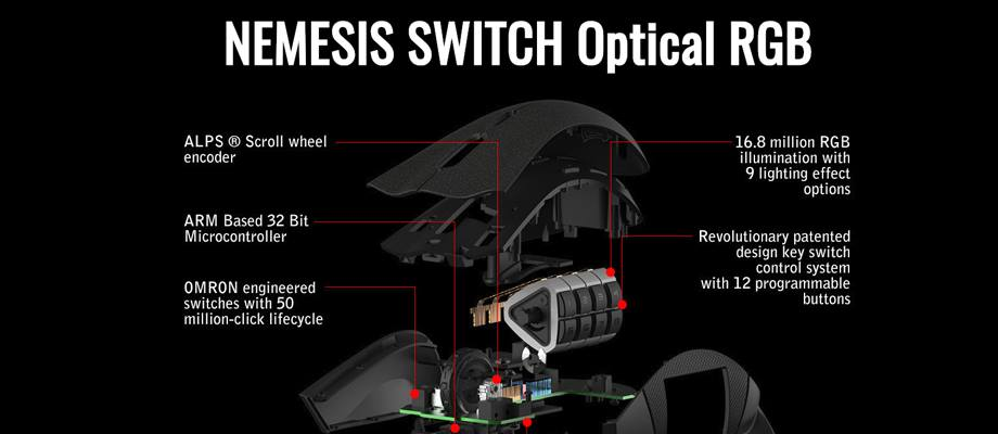 Tt eSPORTS Nemesis Switch RGB Gaming Mouse จุดเด่น