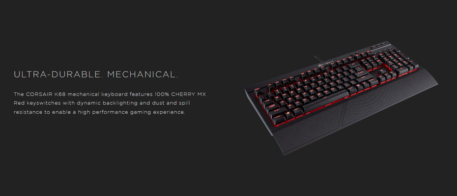 คีย์บอร์ด Corsair K68 Mechanical Keyboard Red Switch (Thai) ราคา