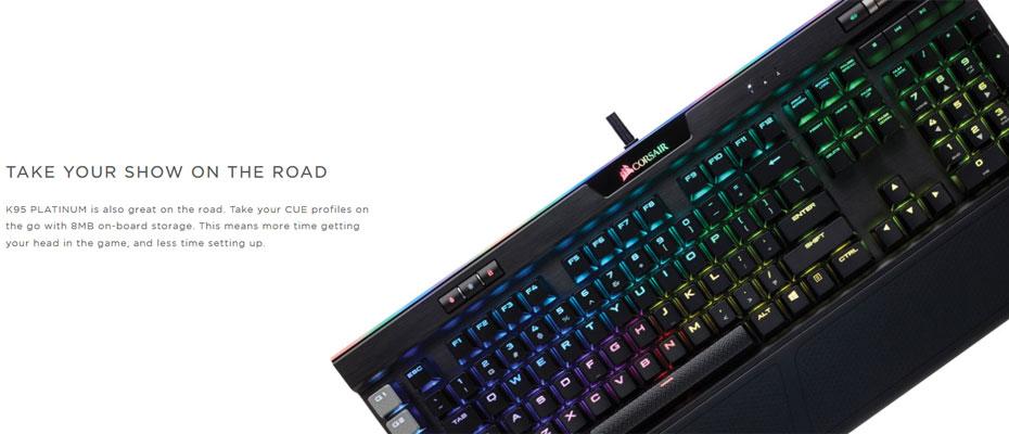 คีย์บอร์ด Corsair K95 RGB Platinum Mechanical Keyboard Brown Switch (Thai) ซื้อ