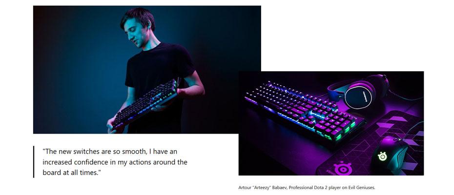 คีย์บอร์ด SteelSeries Apex M750 RGB Mechanical Keyboard ราคา