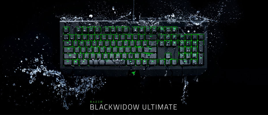 คีย์บอร์ด Razer Blackwidow Ultimate IP54 Mechanical Keyboard Green SW ราคา