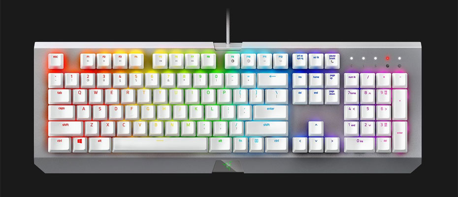 คีย์บอร์ด Razer BlackWidow X Chroma Mercury White Edition Mechanical Keyboard Green SW ราคา