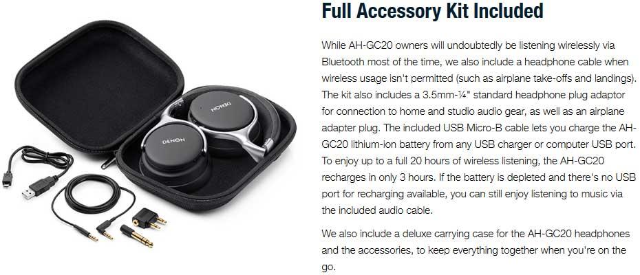 หูฟังไร้สาย DENON AHG-C20 Headphone ขาย