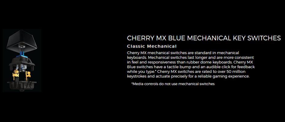 คีย์บอร์ด Logitech G610 Orion Blue Mechanical Keyboard Blue Switch (Thai) ขาย