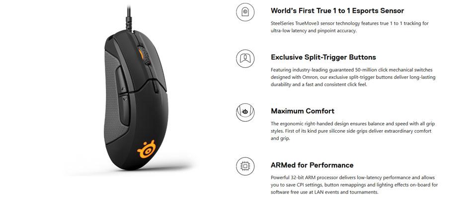 เมาส์ SteelSeries Rival 310 RGB Gaming Mouse ซื้อ
