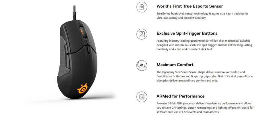 เมาส์ SteelSeries Sensei 310 RGB Gaming Mouse ราคา