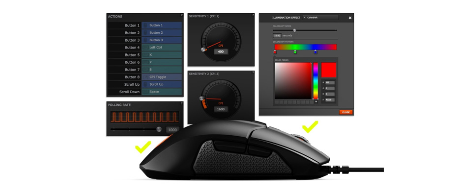 เมาส์ SteelSeries Sensei 310 RGB Gaming Mouse ขาย