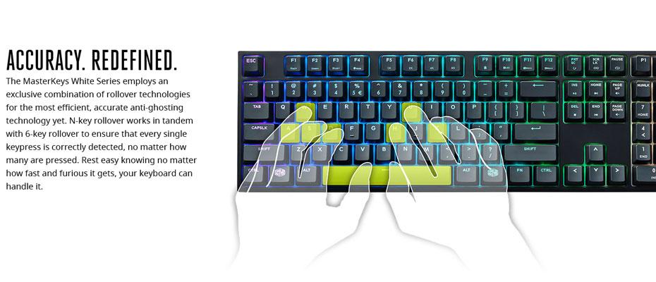 คีย์บอร์ด Cooler Master MasterKeys Pro L RGB Mechanical Keyboard Cherry MX Brown ซื้อ