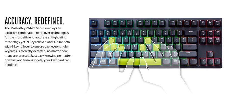 คีย์บอร์ด Cooler Master Masterkeys Pro S RGB Mechanical Keyboard Cherry MX Brown ขาย
