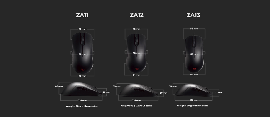 Zowie ZA Gaming mouse รีวิว