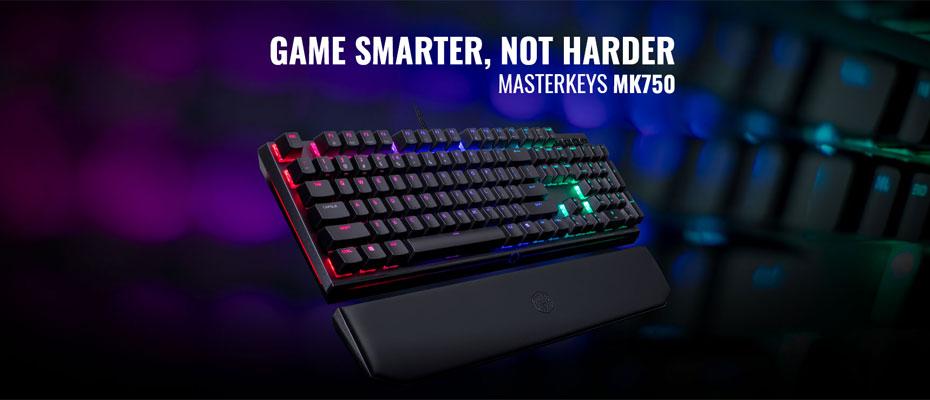 คีย์บอร์ด Cooler Master MK750 RGB Mechanical Keyboard Cherry MX Red ราคา