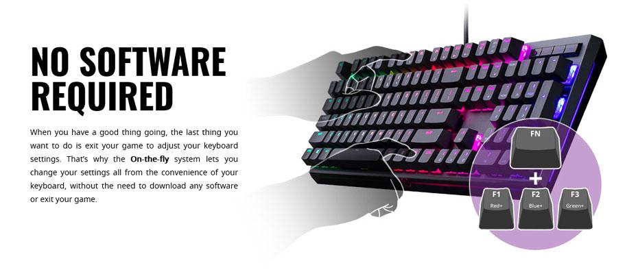 คีย์บอร์ด Cooler Master MK750 RGB Mechanical Keyboard Cherry MX Red ซื้อ