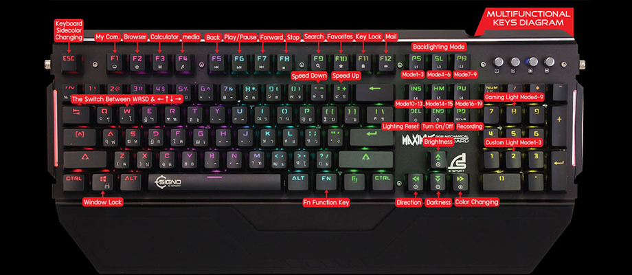 Signo KB-778 RGB Mechanical Keyboard Blue Switch รีวิว