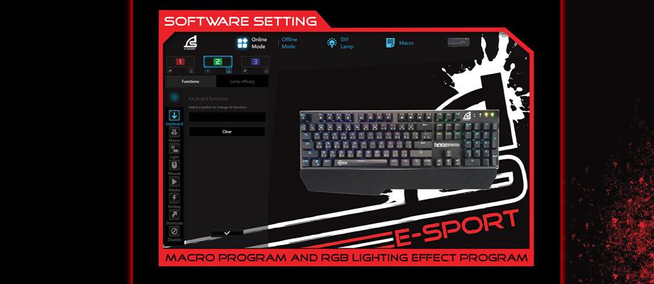 Signo KB-778 RGB Mechanical Keyboard Blue Switch จุดเด่น