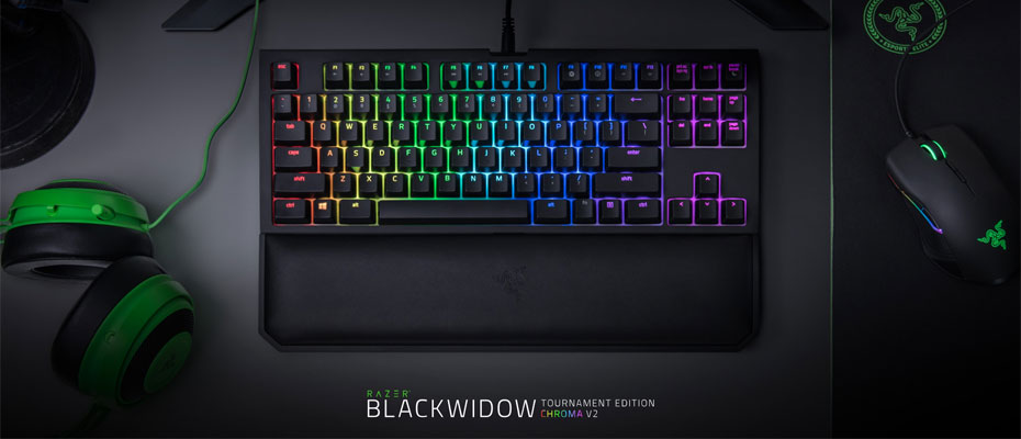 คีย์บอร์ด Razer Blackwidow Tournament Edition Chroma V2 Mechanical Keyboard ราคา