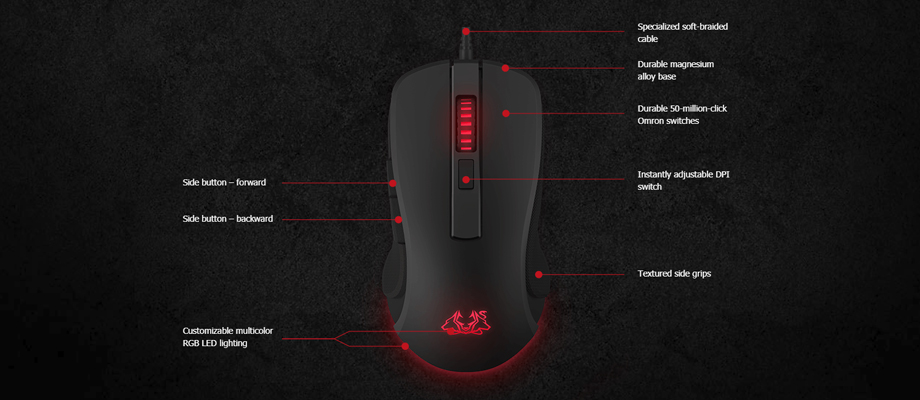 Asus Cerberus Fortus Wireless Mouse Highlight