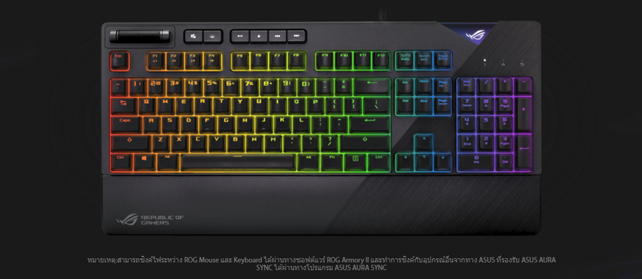 Asus Strix Flare keyboard รีวิว