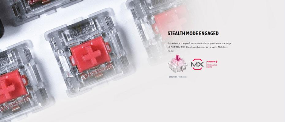 คีย์บอร์ด Corsair STRAFE RGB MK2 Mechanical Keyboard MX Silent (Thai) Silent