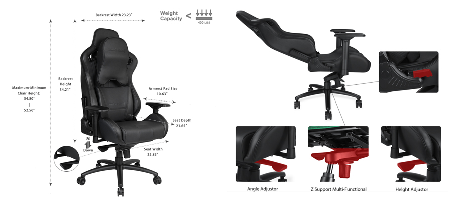 Andaseat Dark Knight สเปค