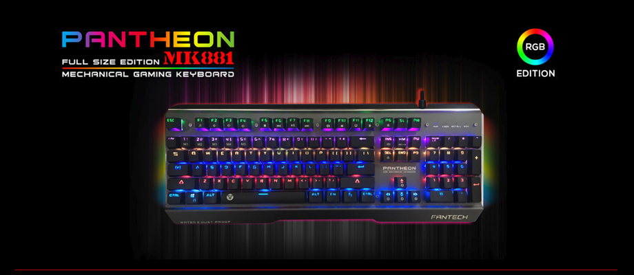 Fantech MK881 RGB Mechanical Keyboard Blue SW รีวิว