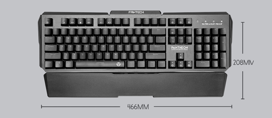 Fantech MK882 RGB Mechanical Keyboard Blue SW ขนาด