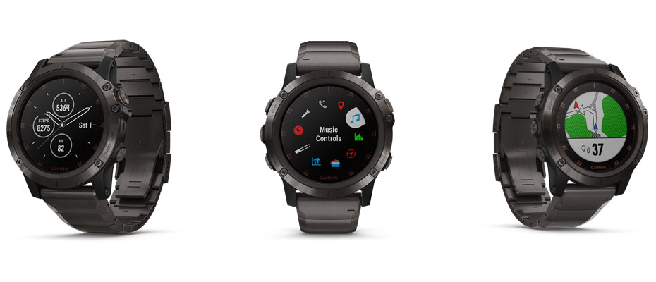 Garmin Fenix 5X Plus Sapphire DLC Titanium Sport Watch ซื้อ