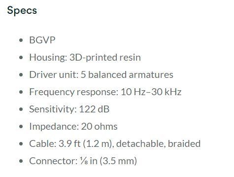 BGVP DM6 สเป็ค