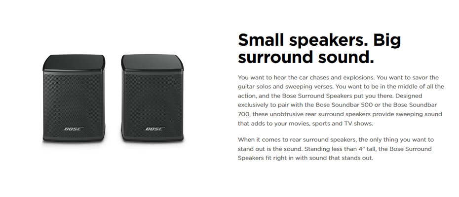 ลำโพง Bose Surround Speakers ราคา